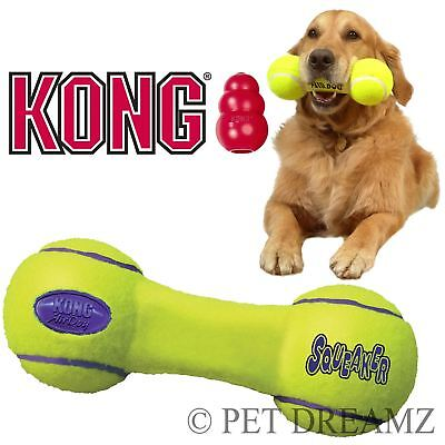 Kong Air Dog Puppy Squeaker Fetch Retrieval Dumbbell Toy - 3 Sizes