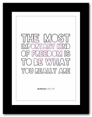 Jim Morrison ❤ typography quote poster art limited edition print The Doors #22