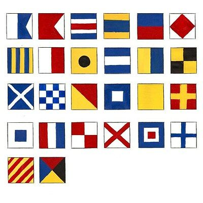 Naval Signal Flags / Flag SET - Set of 26 flag - Marine Code - Total 28 Flags