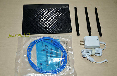 ASUS 450 Mbps Gigabit Wireless N Router (RT-N66U)(Delivery adapter plugs)