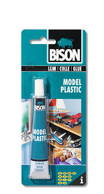1317210 Bison Model Plastic Adhesive Glue 25ml Ultra strong Clear