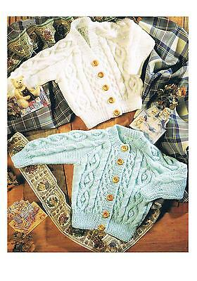 """Knitting Patterns Babys Toddlers Jackets Coats Cardigans PATTERN ONLY DK 18-26"""""""