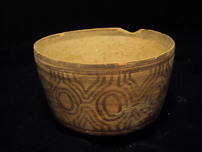 Ancient Teracotta Indus Valley Painted Bowl 2000 BC   #BK775