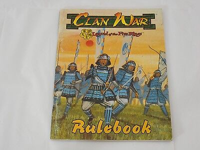 AEG Clan War Rulebook Set SC VG Legend of the Five Rings Miniatures Rules