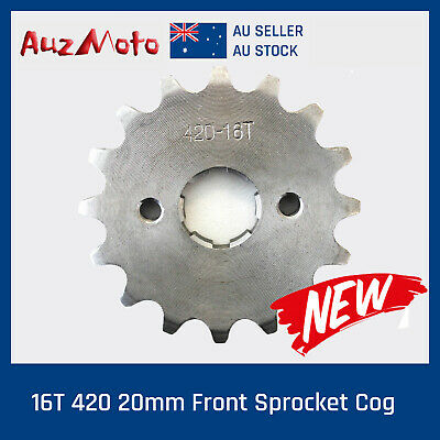 16T 420 20mm Front Sprocket Cog for 50/70/110/125/150cc Dirt Pit Trail Bike ATV