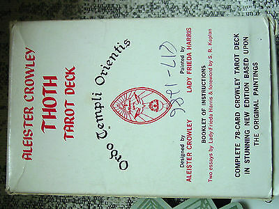 VINTAGE Aleister Crowley Thoth Tarot Cards Deck - White Box, 1978