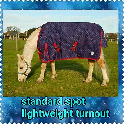Lightweight No Fill Combo Neck Or Standard No Neck Turnout Horse Rug All Sizes