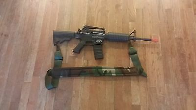 """New Military Small Arms Sling, Gun Sling, Rifle Sling 56 """", Woods Padded Camo"""