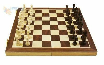 Folding wooden  Chess set  High Quality standard Chess Set Wooden  30 X 30 cm