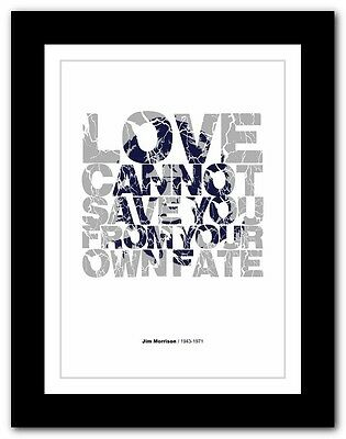 Jim Morrison ❤ typography quote poster art limited edition print The Doors #29