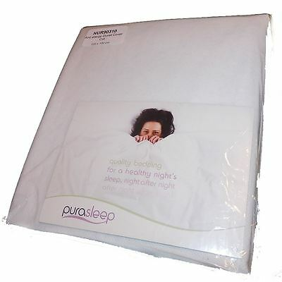 Provent Anti Allergy Duvet Cover 120 x 100 Cot Fully Enclosed White