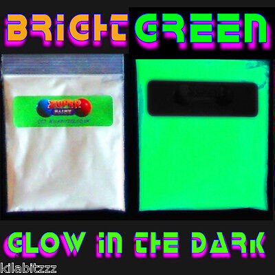 Strongest bright Glow in the Dark GREEN luminous powder - UK stocked  Strontium