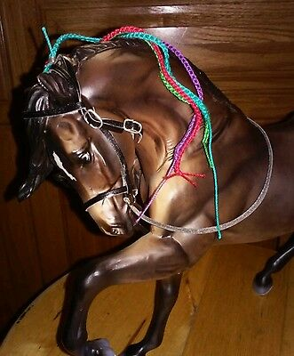Breyer horse custom braided three bridles