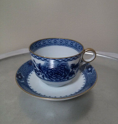 Mottahedeh Imperial Blue Cup and Saucer. Mint Condition