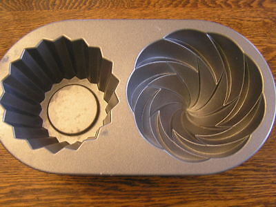 Nordic Ware Large Giant CUTE CUPCAKE Cast Aluminum 6~Cup Mold