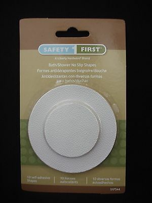 10 Liberty Safety First Bath Shower No Slip Shapes White (Total 1 Pack)