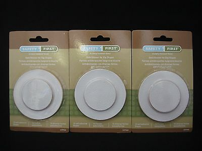 30 Liberty Safety First Bath Shower No Slip Shapes White (Total 3 Packs)