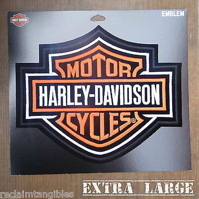 Harley Davidson Authentic Patch - Orange Classic Logo - XL Emblem Badge