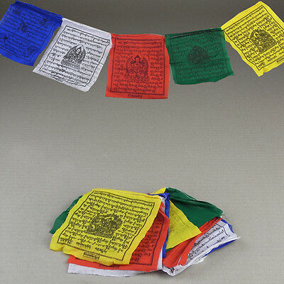 10 Tibetan Buddhist Spiritual Prayer Flags Religious Buddhist Hippie Boho Home