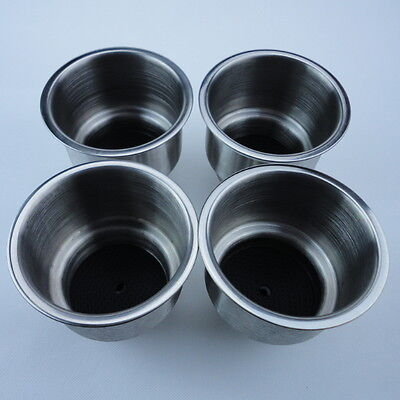 4 PCS Stainless Steel Boat Cup Drink Holder Marine Boat Car Truck Camper RV Good