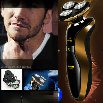 Men 3D Rechargeable Cordless Electric Shaver Razor Washable Deluxe Rotary Best C