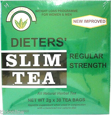 NUTRI LEAF Dieters Slim Tea-Regular Strength 30 Tea Bags Weight Loss Diet Herbal
