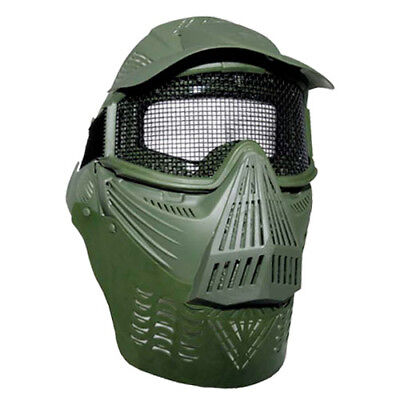 Mascarilla Completa Protección Visual + Malla Airsoft Paintball Army Militar Ver