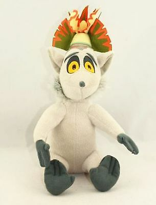 Brand New Penguins of Madagascar King Julien Lemur Plush Stuffed Doll