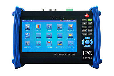 "IPC-8600S 7""Touch screen HD resolution ONVIF IP CAMERA SDI Monitor PTZ TESTER"