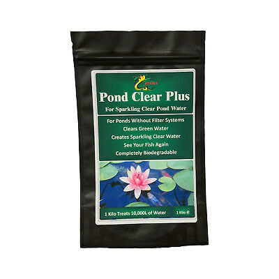 Koi Pond Algae Treatment HYDRA POND CLEAR PLUS 1 KG Green & Cloudy Water Remover