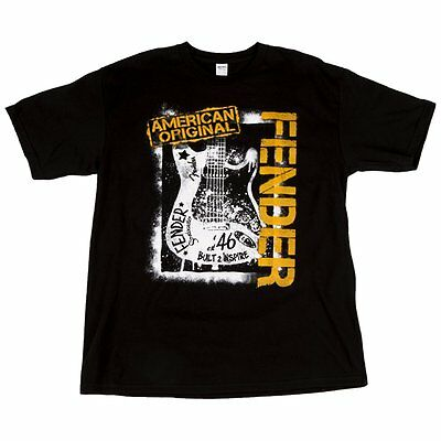 Fender Original American Spraypaint T-Shirt - Black