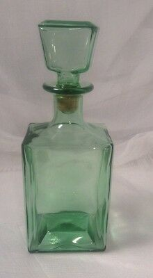 Vintage Decanter Emerald Green Glass Whisky Scotch Wine Liquor