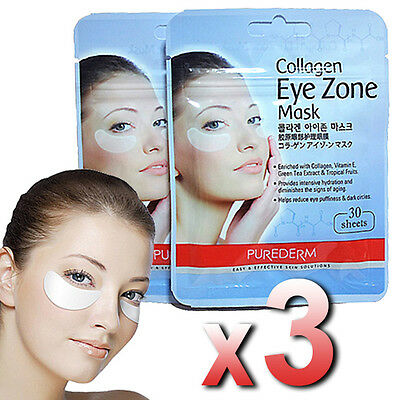 Purederm - 3x Collagen Hydro Eye Zone Mask White Wrinkle Care Nourishing Salon