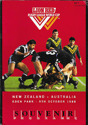 1988 - New Zealand v Australia, World Cup Final Match Programme.