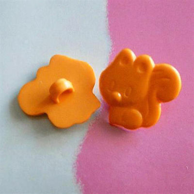 20 Squirrel Kid Novelty Craft Clothing Sewing Buttons 16mm Orange K340