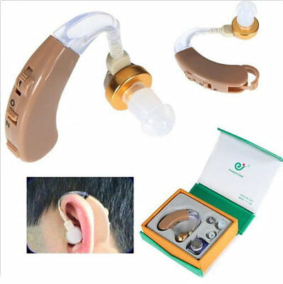 Best Digital Tone Hearing Aids Aid Behind The Ear Sound Amplifier Adjustable New
