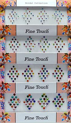Crystal-Look Bindi Tattoo Assorted Size 190 Stickers Body Art India Jewelry P5