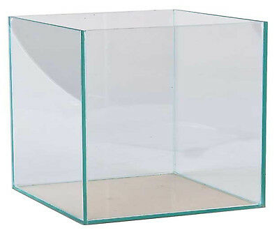 Aquarium 30x30x30cm Würfel Quadrat Becken Glasbecken transparent verklebt