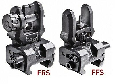 FRSFFS-S CAA Tactical Low Profile Rear & Front Flip-Up Sights Made of Poly/Steel