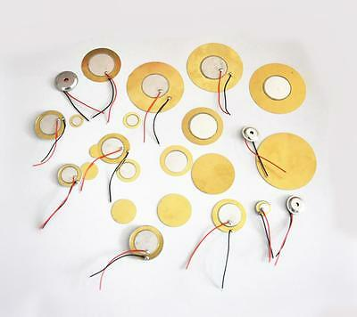 10Pcs Dia 12/15/20/27/35/50 mm Piezo Elements Sounder Sensor Trigger Drum Disc