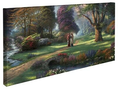 Thomas Kinkade Wrap Walk of Faith 16 x 31 Wrapped Canvas