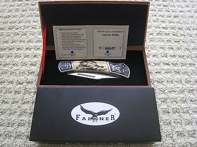 Falkner wildlife collectible Knife - New. With Box and certificate