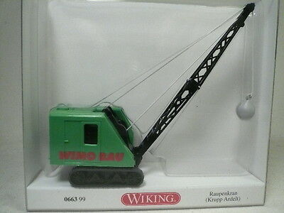 Wiking-Walthers Tracked Crane w/ Wrecking Ball 1:87 Tractor/Excavator #66399