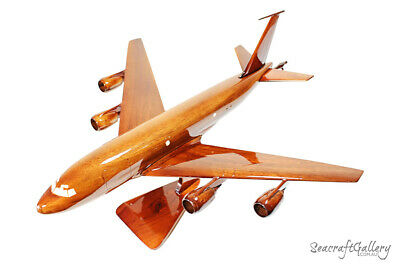 Handmade Wooden Model Boeing Kc135 Airplane Helicopter Military Gifts Hobbies