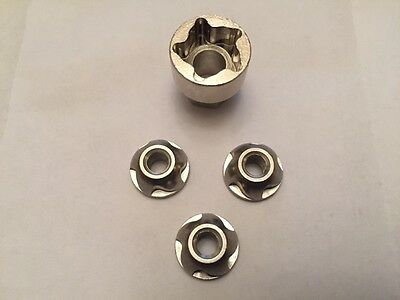 Anti Theft Nut Security Lock Nut , 5 Sizes for work, Led ,Spot, Flood , Lights