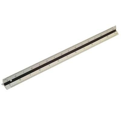 300mm Aluminium Ruler Metal Rule Markings Measuring Scale Tool Quality Dual
