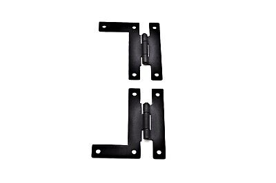 "3"" Black Iron Hinge, H L Hinge, Antique Style Hinge, Iron Forged, Sold In Pairs"