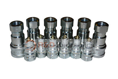 """6 Sets of 1/4"""" ISO-B Hydraulic Quick Couplers"""