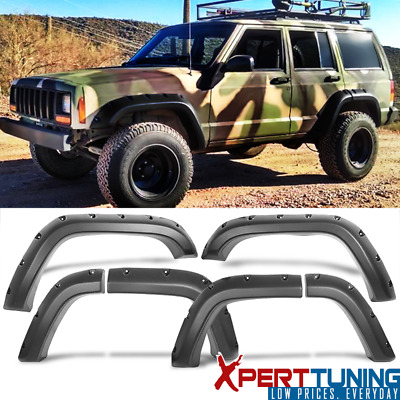 Jeep Cherokee Xj 1984-2001 Fender Flares POCKET Style Wheel Cover Black ABS 6Pcs