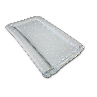 Deluxe Large Baby Changing Mat Baby Blue with White Polka Dot